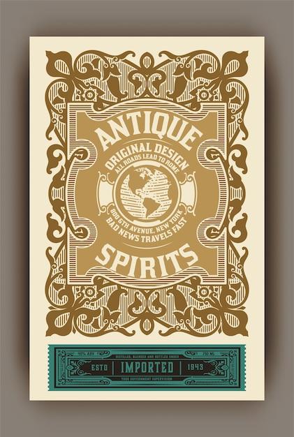 Whiskylabel voor verpakking Premium Vector