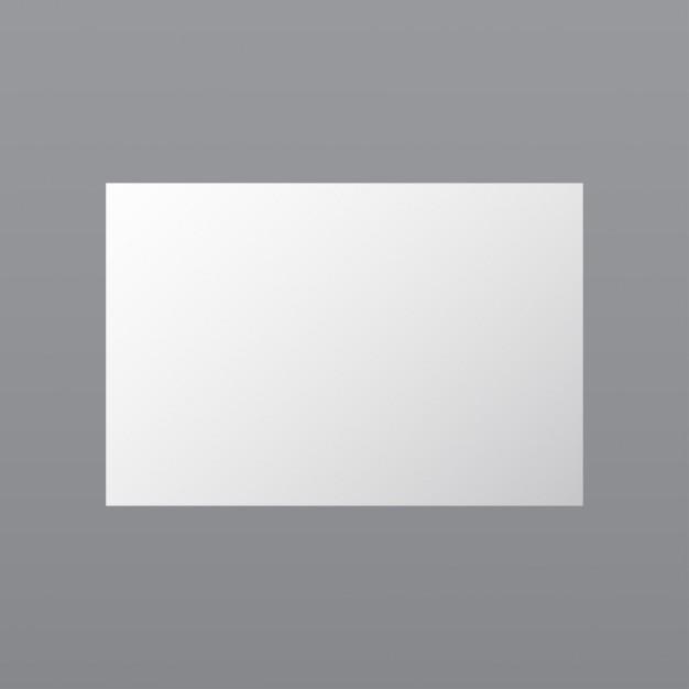 White paper mockup op grijze achtergrond Gratis Vector
