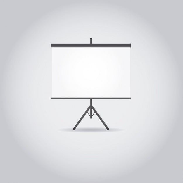 White projectorscherm Gratis Vector