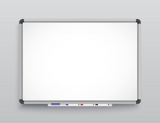 Whiteboard voor markeringen. Premium Vector