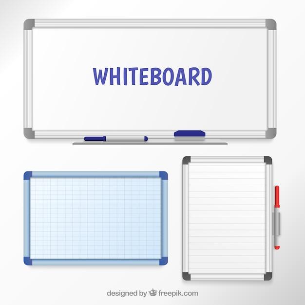 Whiteboards Gratis Vector