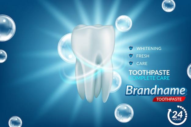 Whitening tandpasta advertenties Premium Vector