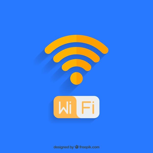 Wifi achtergrond ontwerp Gratis Vector