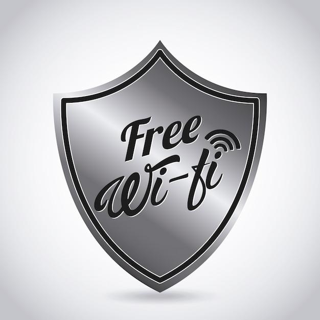 Wifi-signaal Premium Vector