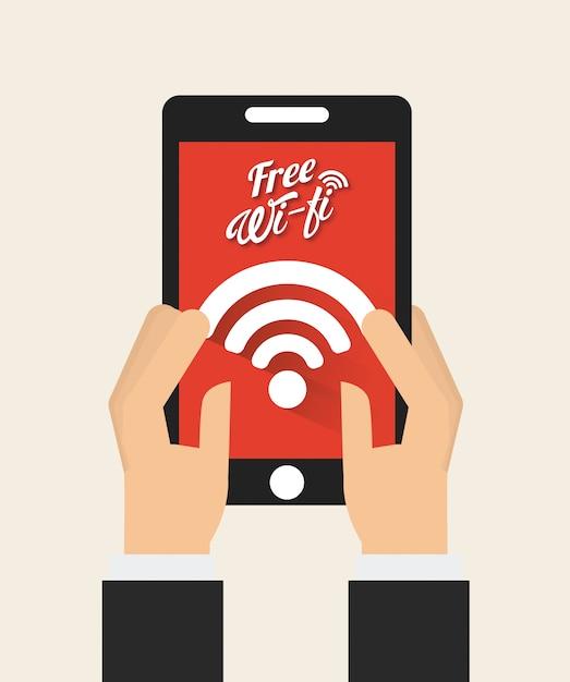 Wifi verbinding Premium Vector