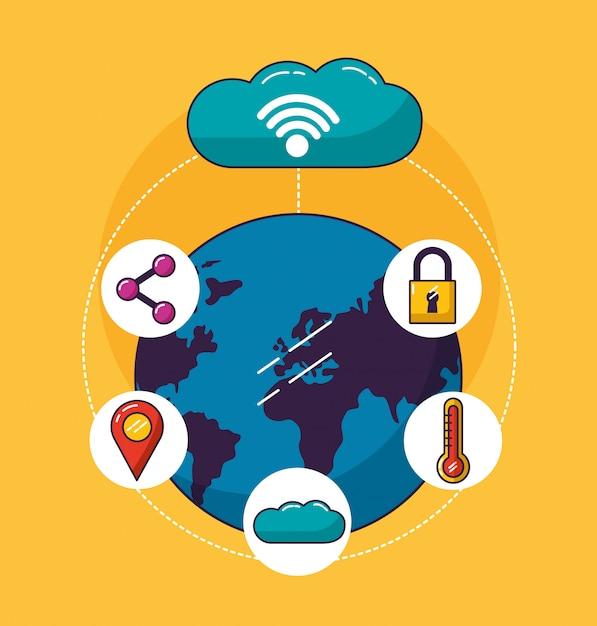Wifi-vrije verbinding Gratis Vector