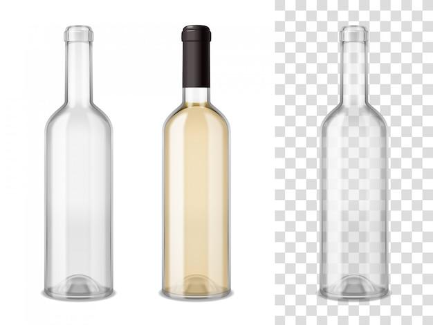 Wijnglas flessen set Gratis Vector