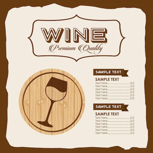 Wijnsjabloon menu Gratis Vector