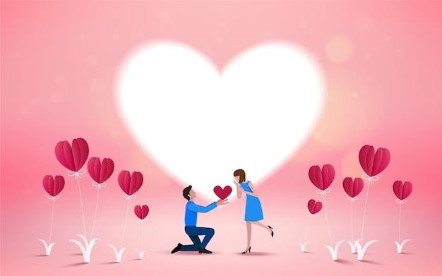 Wil je met me trouwen uitnodigingskaart Premium Vector