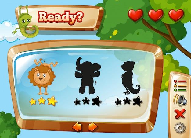 Wild dierensjabloon voor games Gratis Vector