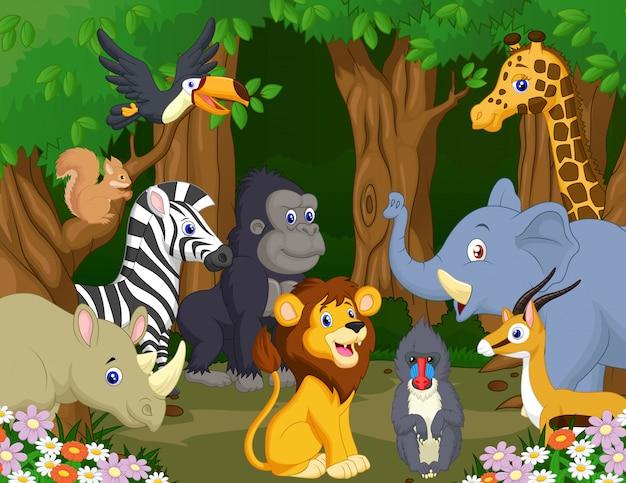 Wild dierlijk beeldverhaal Premium Vector