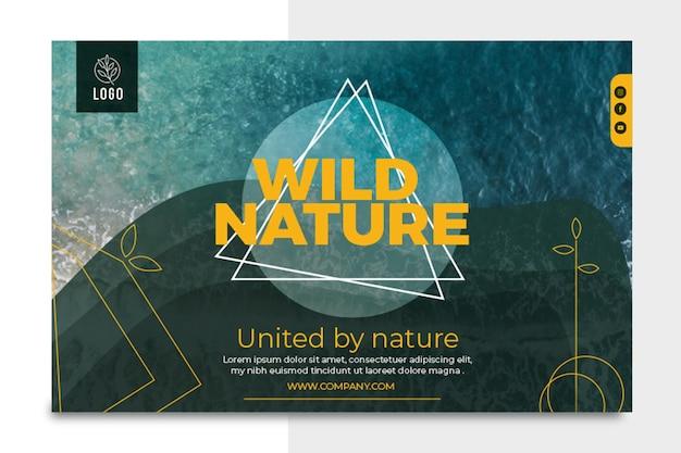Wilde natuur horizontale banner Gratis Vector