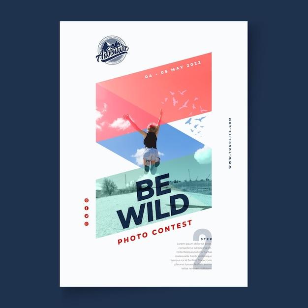 Wilde natuur verticale poster Gratis Vector