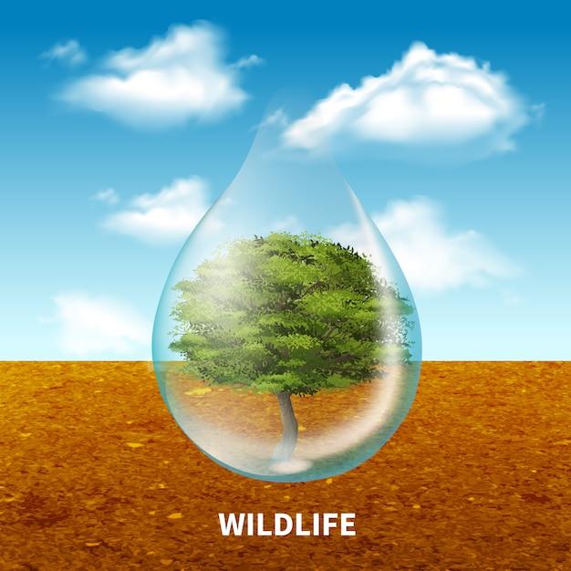 Wildlife reclame poster Gratis Vector