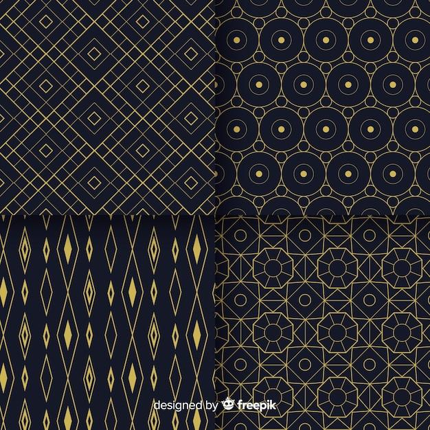 Willekeurige verzameling geometrische patroonontwerp Gratis Vector