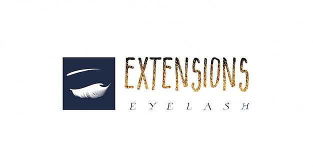Wimper extensie banner. Premium Vector