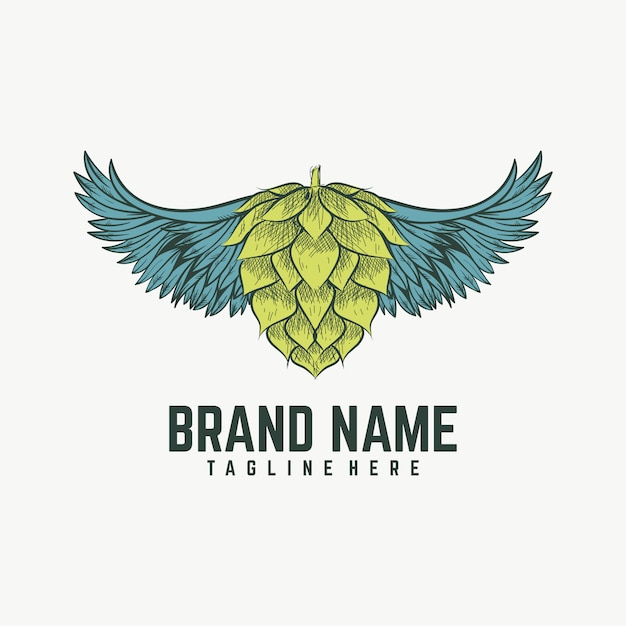 Wing brewing-logo Premium Vector
