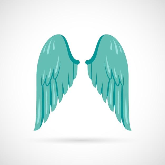 Wing illustratie flat Gratis Vector