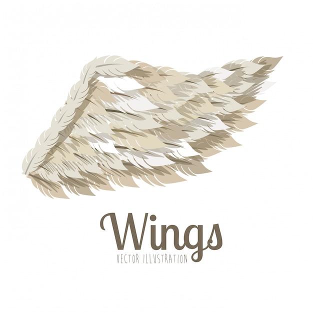 Wings ontwerp Premium Vector