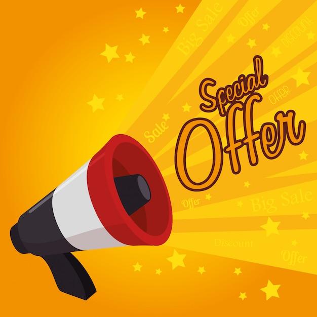 Winkelen aanbiedingen en verkoop Premium Vector