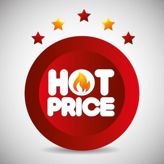Winkelen hete prijzen thema Gratis Vector