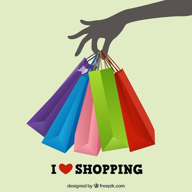 Winkelen liefde Gratis Vector