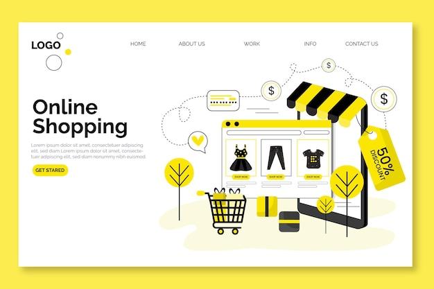 Winkelen online landingspagina ontwerp Gratis Vector