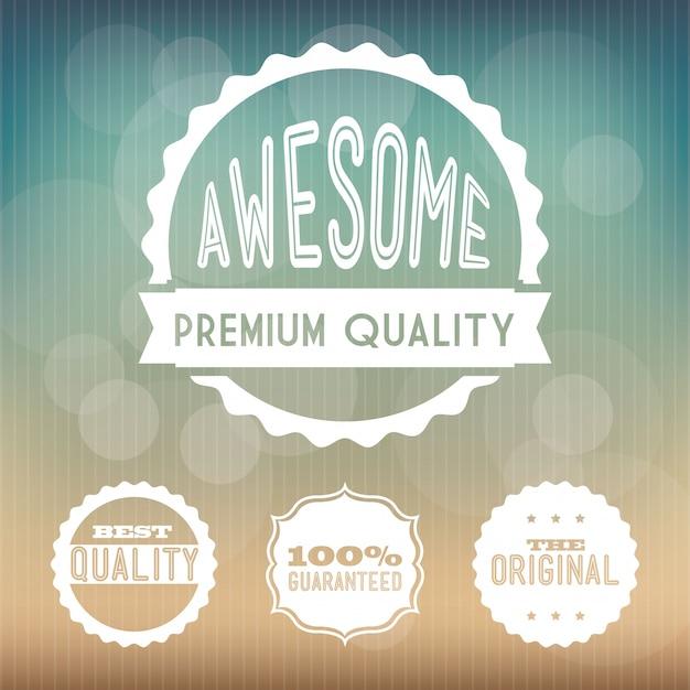 Winkelen ontwerp over patroon achtergrond vectorillustratie Premium Vector