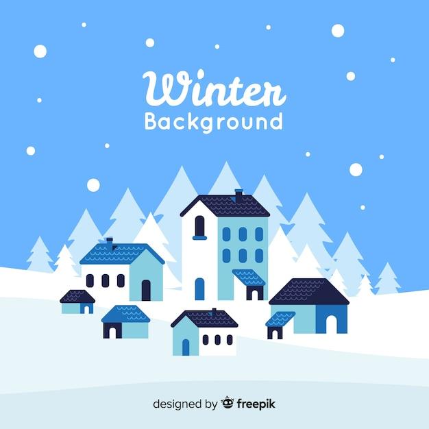 Winter achtergrond Gratis Vector