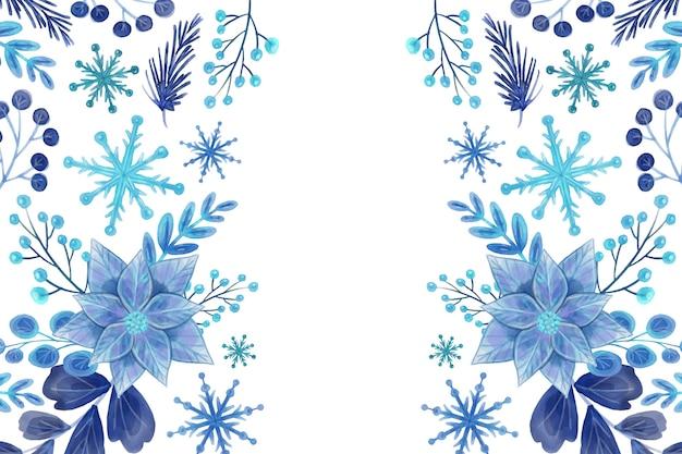 Winter aquarel achtergrond Gratis Vector