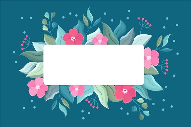 Winter bloemen met lege banner Gratis Vector