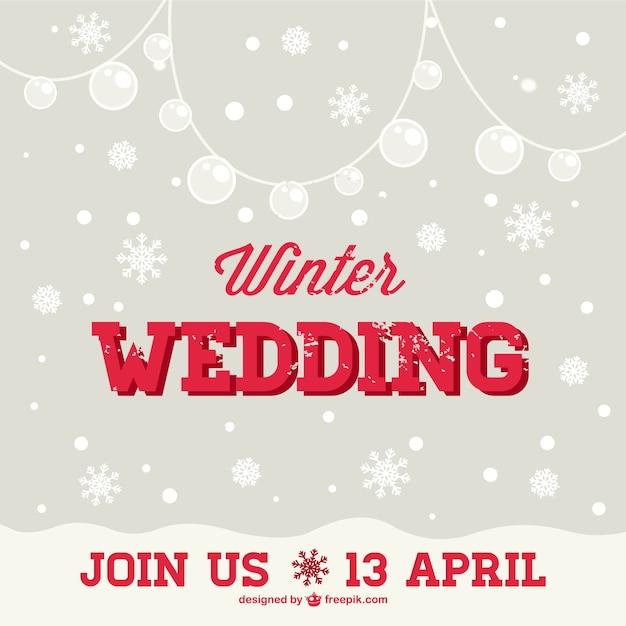Winter bruiloft uitnodiging