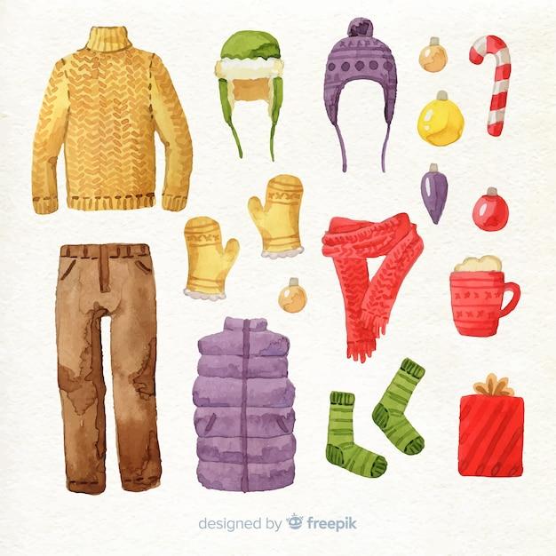 Winter kleding Gratis Vector