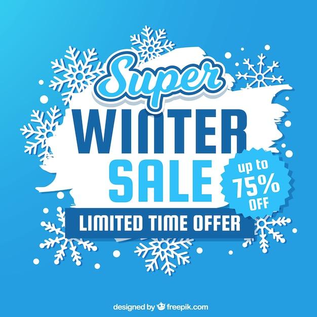 Winter verkoop achtergrond Gratis Vector