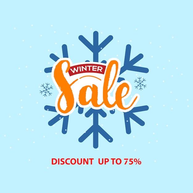 Winter verkoop banner. vector illustratie Premium Vector