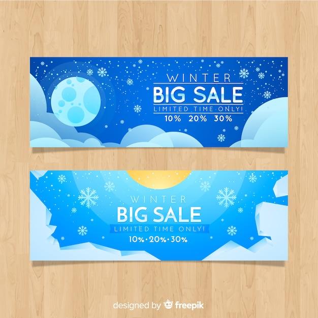 Winter verkoop banner Gratis Vector