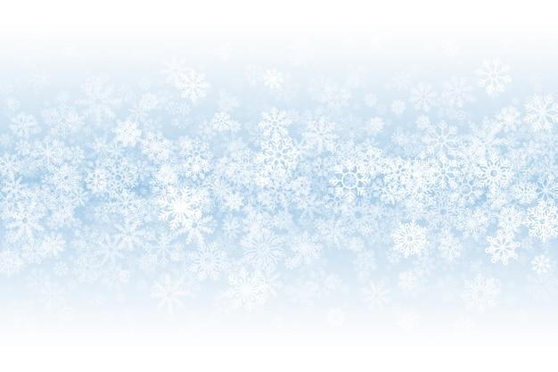 Wintertijd lege achtergrond Premium Vector