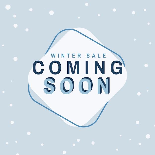 Winterverkoop komt spoedig vector Gratis Vector