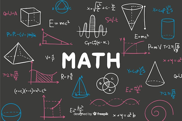 Wiskunde achtergrond Gratis Vector