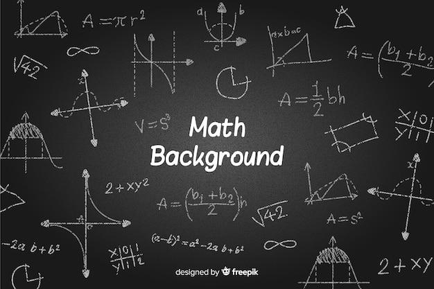 Wiskunde realistische schoolbord achtergrond Gratis Vector