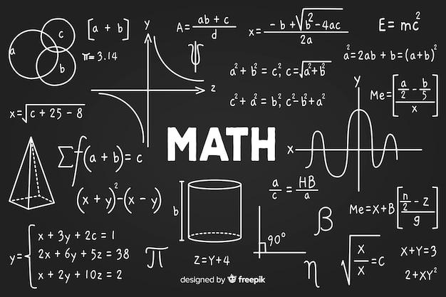 Wiskunde schoolbord Gratis Vector