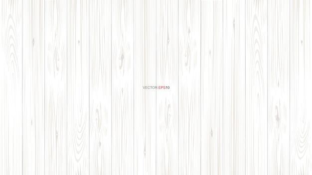 Wit houtpatroon en textuur voor achtergrond. Premium Vector