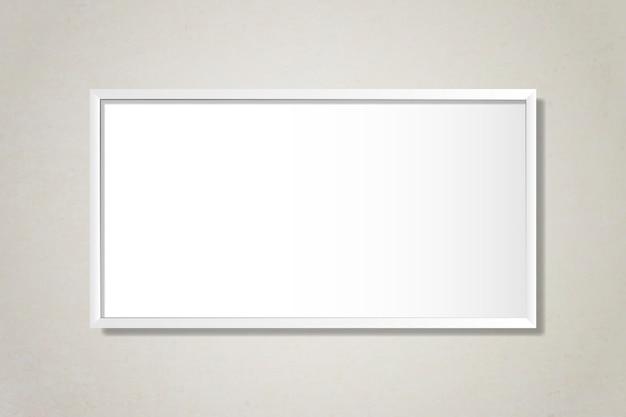 Wit leeg frame op de muur Gratis Vector