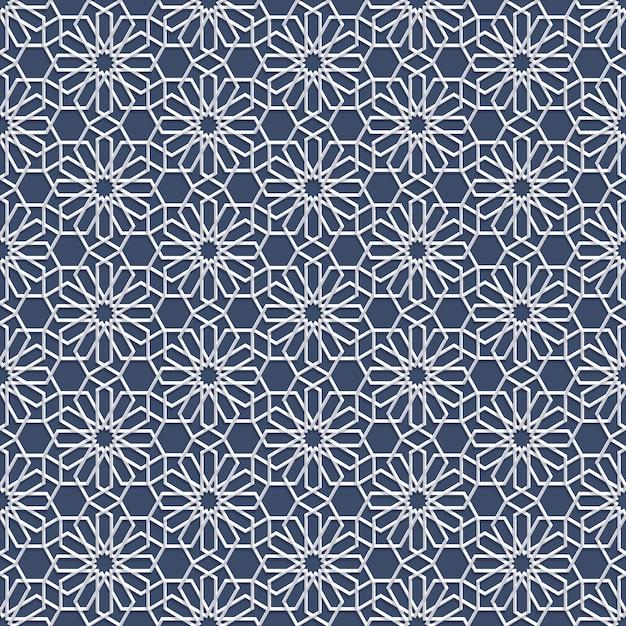 Wit naadloos patroon in arabische stijl Premium Vector