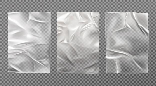 Wit nat papier, slecht gelijmde tarwepasta set geïsoleerd Gratis Vector