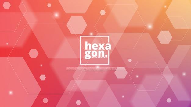 Wit rode achtergrond van zeshoeken. geometrische stijl. mozaïek raster. abstracte zeshoeken deisgn Premium Vector