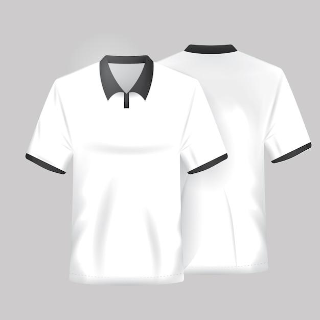 Wit shirt template Gratis Vector