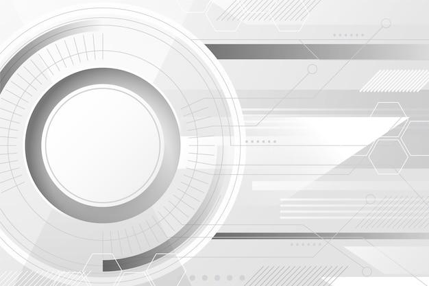 Wit technologie abstract ontwerp als achtergrond Gratis Vector