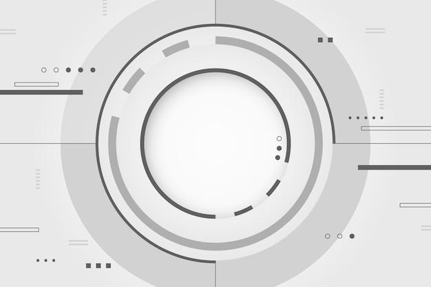 Wit technologieconcept voor achtergrond Gratis Vector
