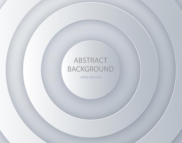 Witboek gesneden ronde achtergrond Premium Vector